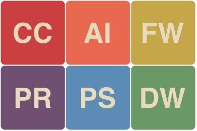 Benodigde software bij de cursussen DTP grafisch ontwerp